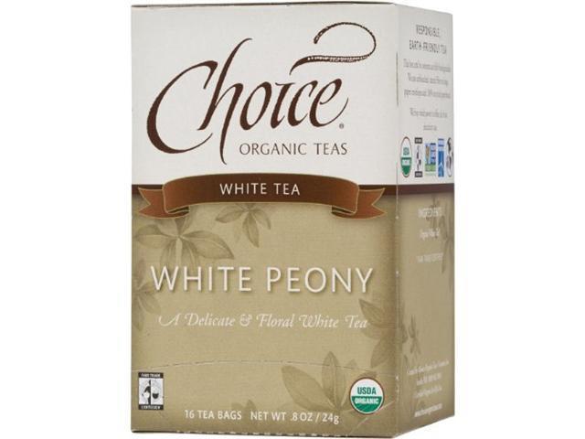 Choice Organic White Peony Tea, 16-Count Box (Pack of 6)