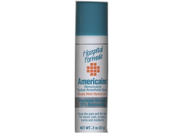 Americaine Benzocaine Topical Anesthetic Spray Maximum Strength 20% Benzocaine 2 OZ