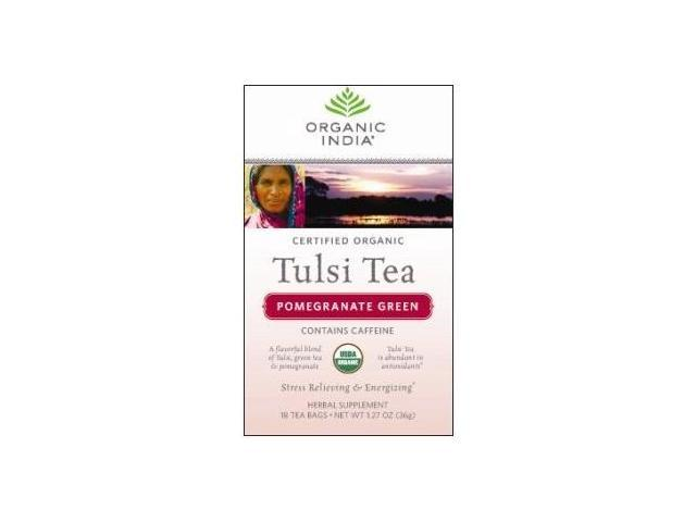 Organic India USA - Tulsi Pomegranate Green Tea, 18 tea bags