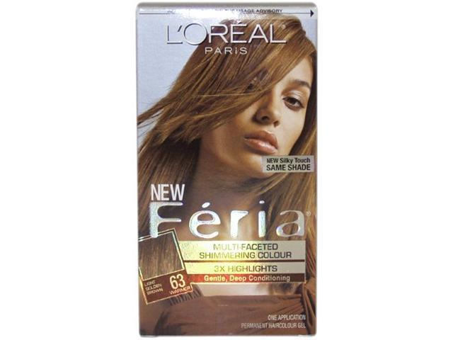 Feria Multi-Faceted Shimmering Color 3X Highlights #63 Light Golden Brown-Warmer - 1 Application Hair Color