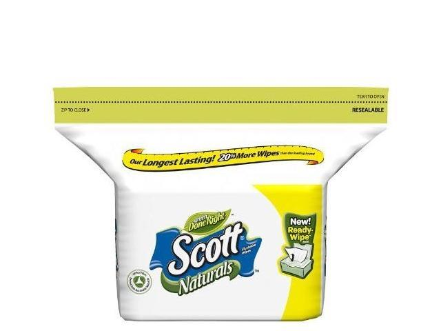 Scott Naturals Scented Moist Wipes Pop-Up Refill,102ct