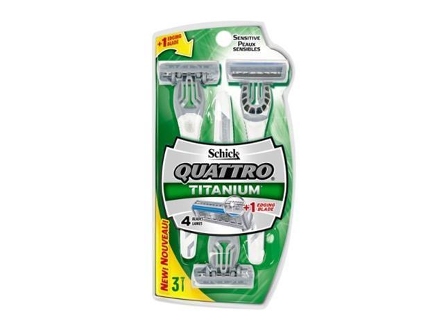 Schick Quattro Disposable Men's Sensitive 3-Count Razor (Pack of 3)