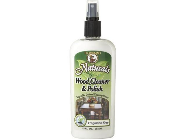 Howard Naturals WC0012 Wood Cleaner and Polish, 12-Ounces, Fragrance-Free
