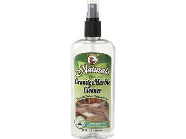 Howard Naturals GM5012 Granite and Marble Cleaner, 12-Ounces, Lemongrass-Lime