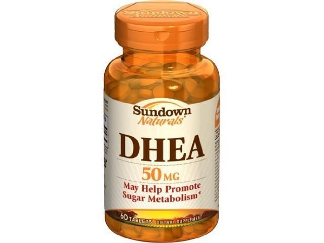 Sundown DHEA Energy Enhance Dietary Supplement Tablets, 50 mg, 60-Count Bottles (Pack of 3)