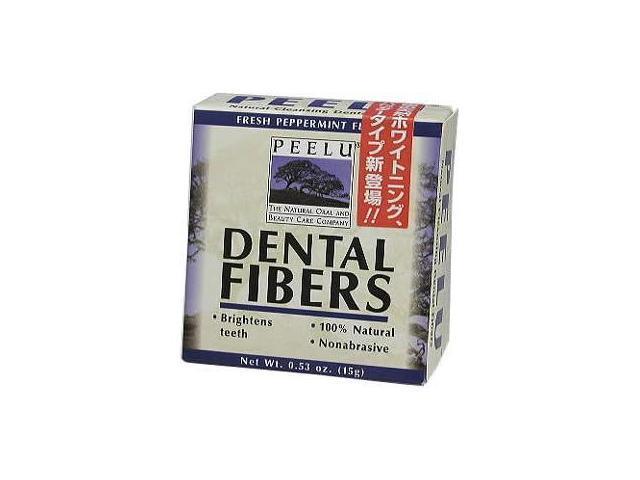 Dental Fibers Peppermint Toothpowder - Peelu - .53 oz. - Powder