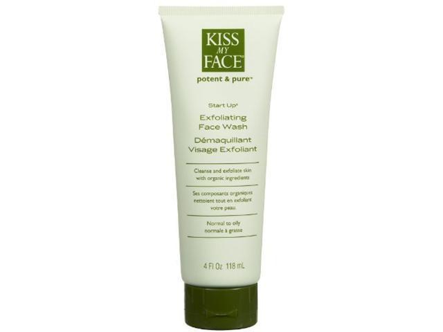 Exfoliating Face Wash  Start Up - Kiss My Face - 4 oz - Liquid