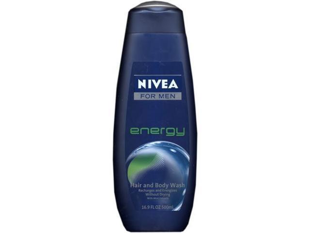 Nivea For Men Hair & Body Wash, Energy, 16.9 oz.