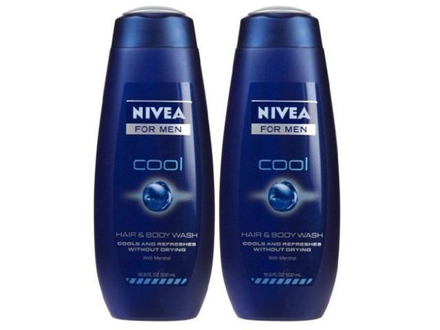 Nivea For Men Body Wash with Menthol, Cool, 16.9 oz.