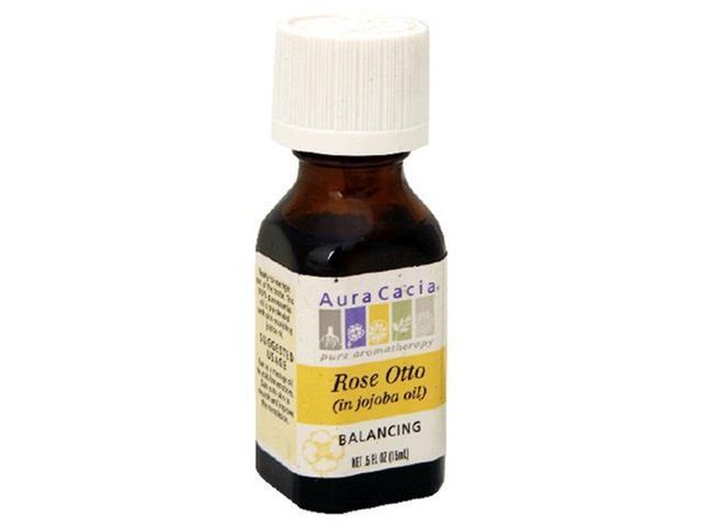 Aura Cacia Pure Aromatherapy, Rose Otto, Balancing, .5-Ounces