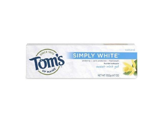 NEW Simply White-Sweet Mint - Tom's Of Maine - 4.7 oz - Gel
