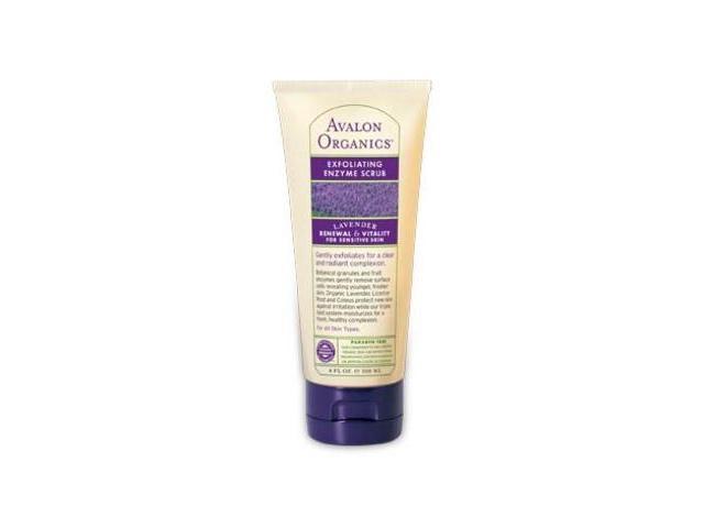 Brilliant Balance with Lavender & Prebiotics Enzyme Scrub - Avalon Organics - 4 oz -