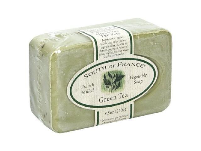 French Milled Soap Bar Green Tea - South of France - 6 oz - Bar