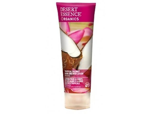 Organics Tropical Coconut Hand and Body Lotion - Desert Essence - 8 oz - Lotion