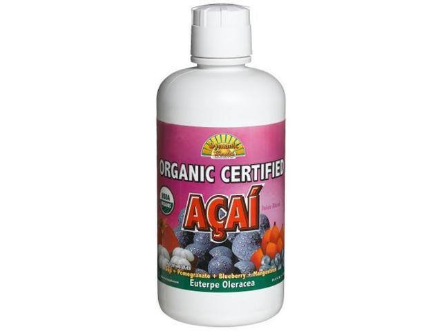 Dynamic Health Organic Certified Acai Juice Blend, 33.8-Ounce Bottle