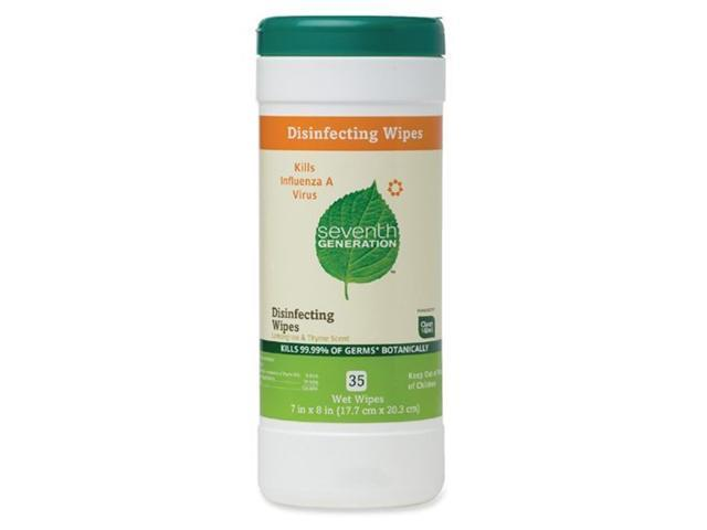 Household Cleaners Disinfecting Wipes, Lemongrass & Thyme - 35 ct,(Seventh Generation)