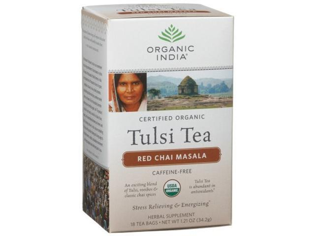 Organic India Tulsi Red Chai Masala, 18-Ounce Boxes (Pack of 6) [Grocery]