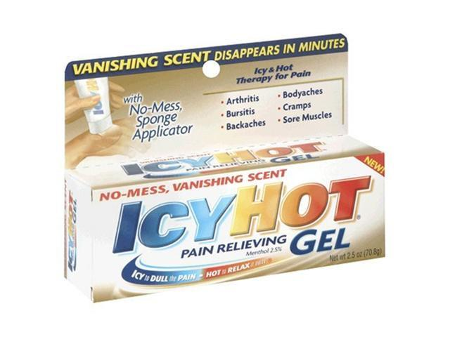 Icy Hot Vanishing Gel, 2.5-Ounce Tubes (Pack of 2)