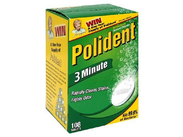 Polident 3-Minute Antibacterial Denture Cleanser-84 ct
