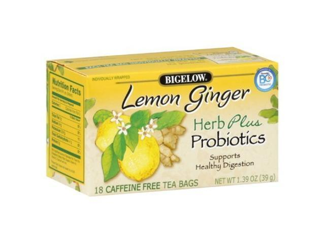 Bigelow Herbal Lemon Ginger Tea, 1-ounces (Pack of6)