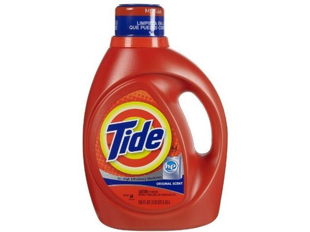 Tide 2x ultra high efficiency liquid detergent, original scent - 100 oz/can, ...
