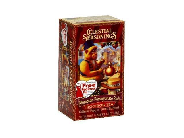 Celestial Seasonings African Tea Moroccan Pomegranate Red, 20-count (Pack of6)