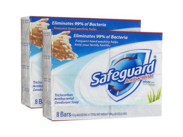 Safeguard Antibacterial Bar Soap with Aloe, 8 ct