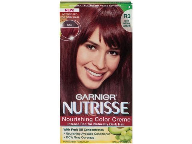 Garnier Nutrisse Haircolor, R3 Light Intense Auburn Nourishing Color Creme Pe...