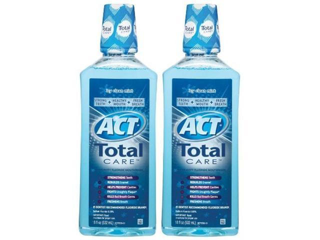 ACT Mouth Wash, Anticavity Fluoride, Icy Clean Mint 18 fl oz (532 ml)