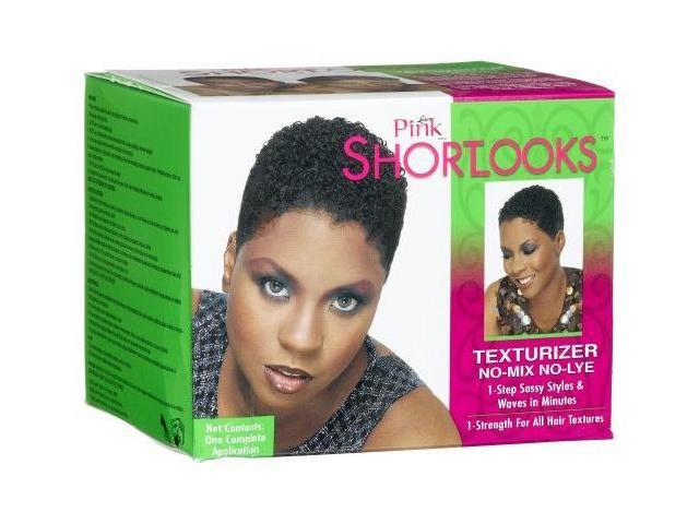 Pink Short Looks Texturizer Kit, 1-Strength for All Hair Textures