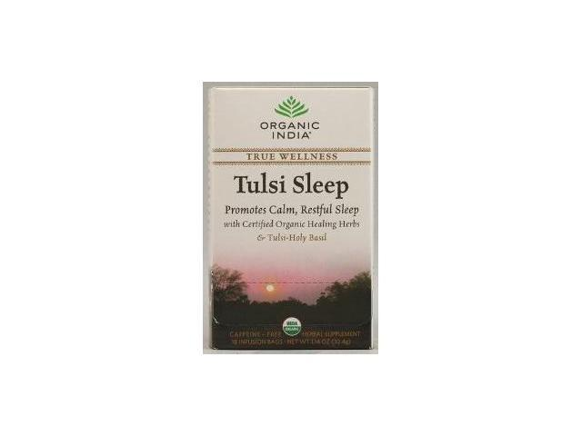 Organic India Tulsi True Wellness Sleep Tea - 18 Tea Bags, Pack of 6