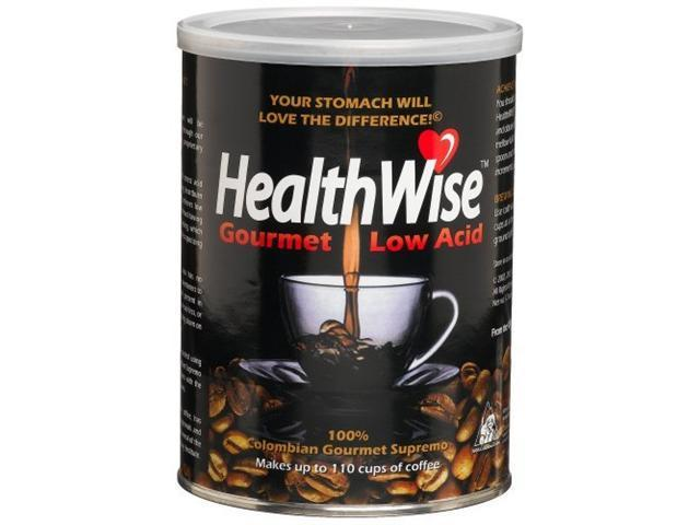 HealthWise 100% Colombian Supremo, Low Acid Ground Coffee, 12-Ounce Cans (Pac...