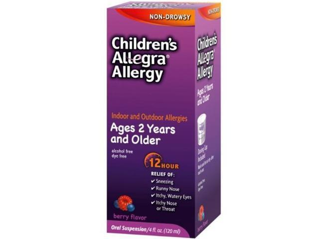 Allegra Childrens 12 Hour Allergy Relief, 4-Ounce