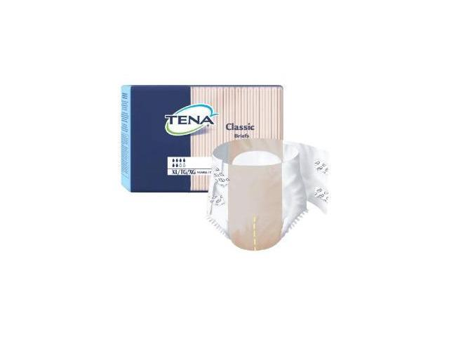 Tena Classic Adult Diapers, Size X-Large, Full case of 100 Briefs (259-7615)