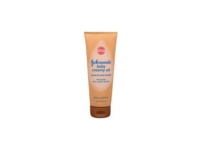 Jonnson & johnson Baby Cocoa and Shea Butter Creamy Oil 8 oz.
