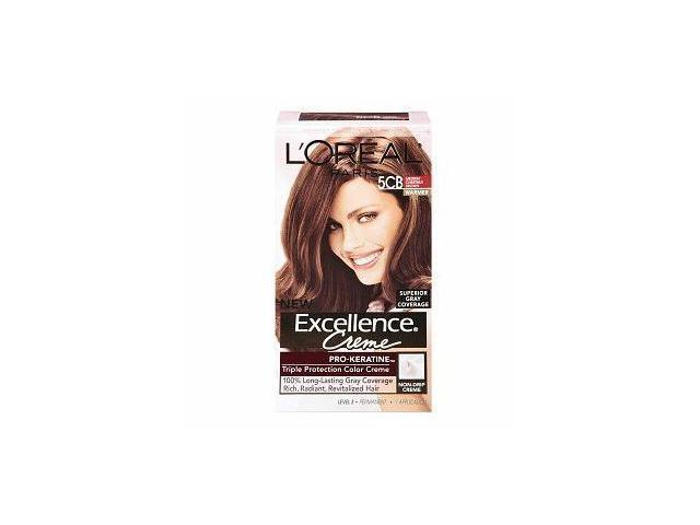 L'Oreal Paris Excellence Hair Color Creme, 5CB Medium Chestnut Brown