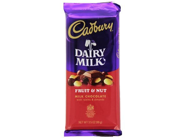 Cadbury Premium Milk Chocolate With Fruit And Nuts, 3.5 ...