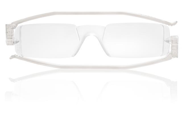 Nannini FlatSpecs Compact One Reading Glasses - Crystal Temples, Optics 1.5