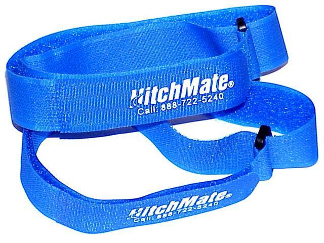 4 Pack - HitchMate Blue QuickCinch Velcro Straps - 1