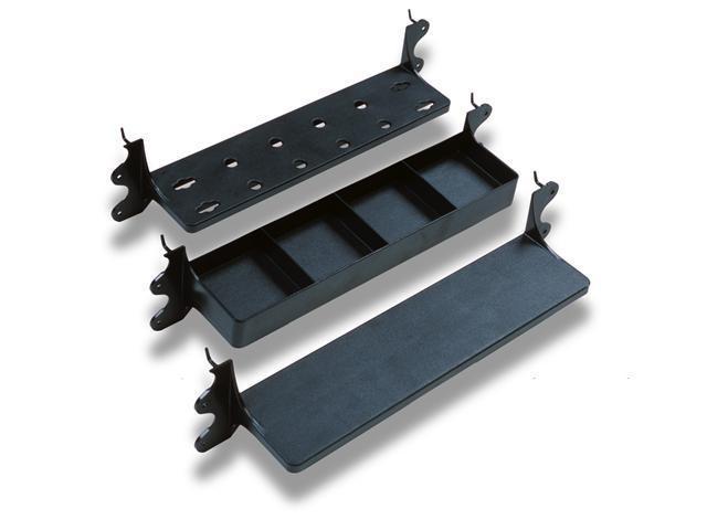 GarageMate 5560 Versa-Shelf 3 Pack Shelving System for Flat Wall/Pegboard/Drywall/Between studs