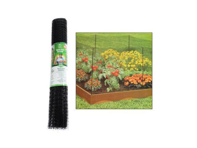 Easy Gardener 3' x 150' Multi-Functional Plastic Netting Barrier Flower Trellis (Black)