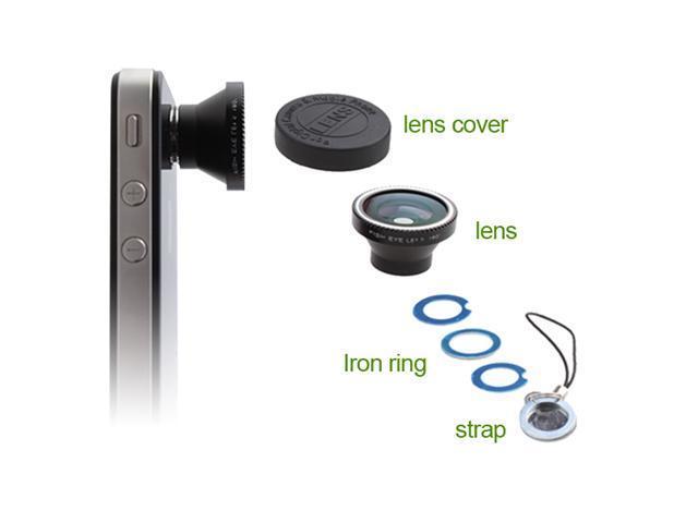 180° Fisheye Lens for Apple iPhone 5 iPhone 4 iPhone4S Nano 4G