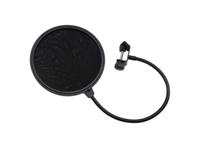 Dual Flexible Studio Microphone Mic Wind Screen Pop Filter