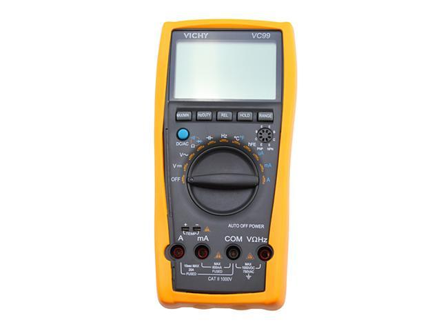 VC99 3 6/7 Auto range digital multimeter DMM AC DC Measuring Components Voltages Circuits