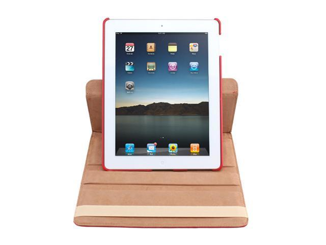 iPad 2 360° Rotating Magnetic PU Leather Case Smart Cover With Swivel Stand