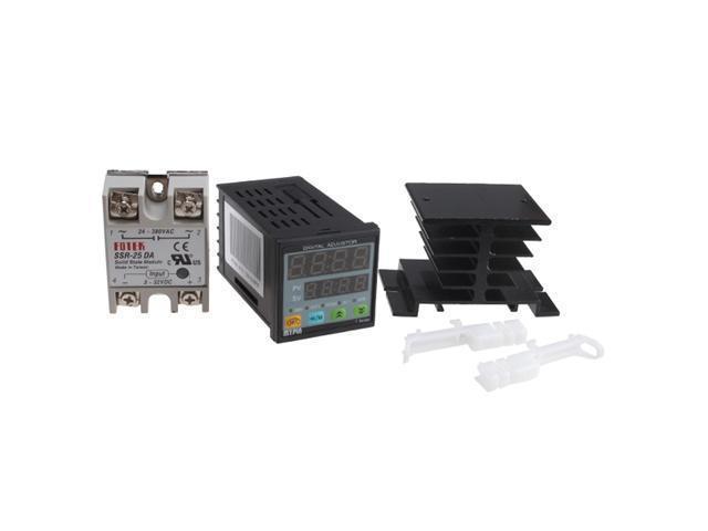 PID Temperature Controller+Heat Sink+25A SSR