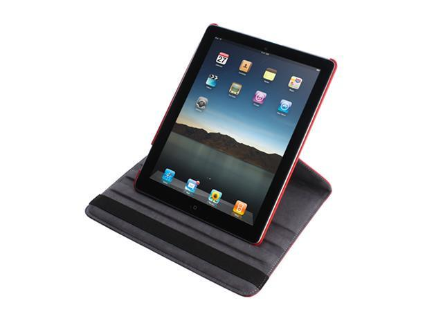 The New iPad iPad 3 Case 360 Rotating Magnetic PU Leather Case Smart Cover Swivel Stand