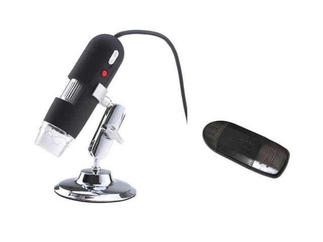 2MP 8-LED USB Digital Microscope endoscope 40X~800X Video Camera w/ SDHC / SD / MMC Memory Card Reader to USB 2.0 Adapter Support SDHC SD2.0