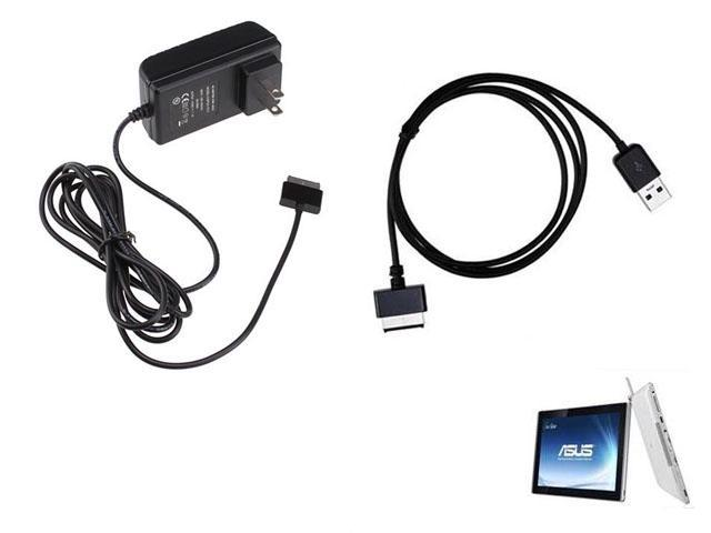 AC Power Adapter Wall Charger Adapter w/ 1.5 Meter USB DATA Charger Cable for Asus EeePad Transformer TF101, Prime TF201