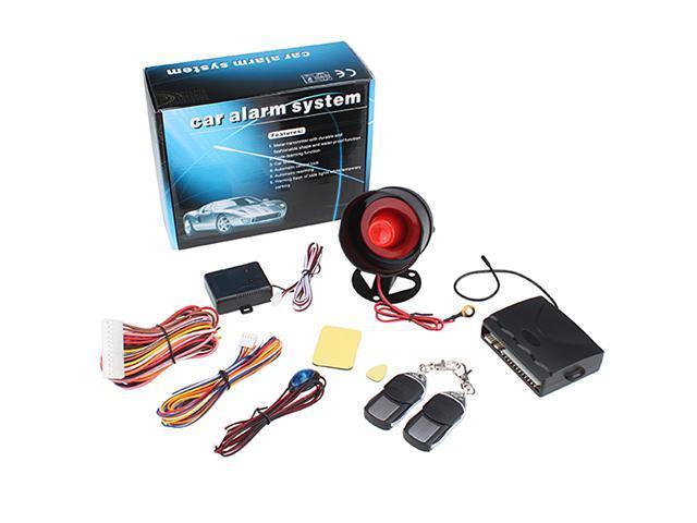 1-Way Car Alarm Protection System + 2 Remote Control
